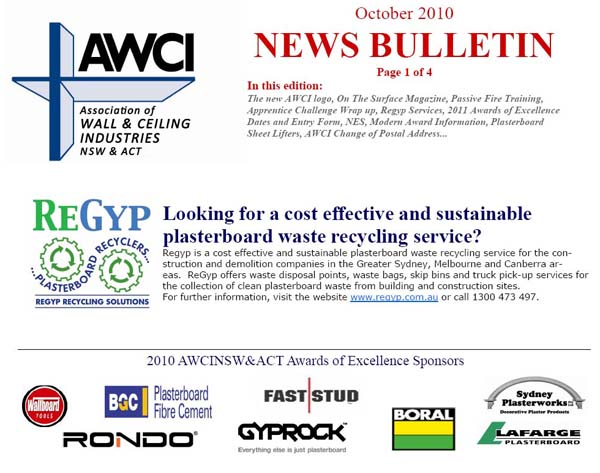 awci newsletter october