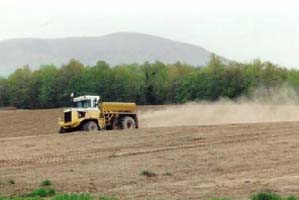Gypsum Spreading